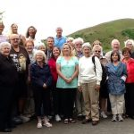 Harry O'Donoghue Tour group at Lough Gur 2014